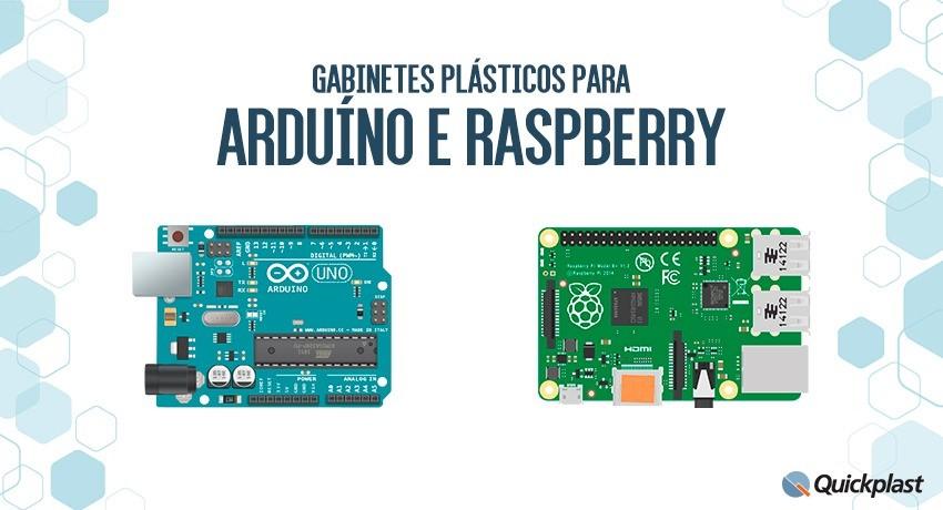 Soluções em gabinetes plásticos para Arduino e Raspberry